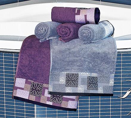 Výhodná sada: 4 ks ručníků Ethnic, 2 ks osušek Eth, šedá