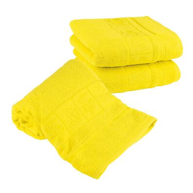 4Home Sada Bamboo žlutá osuška a ručníky, 70 x 140 cm, 2 ks 50 x 100 cm