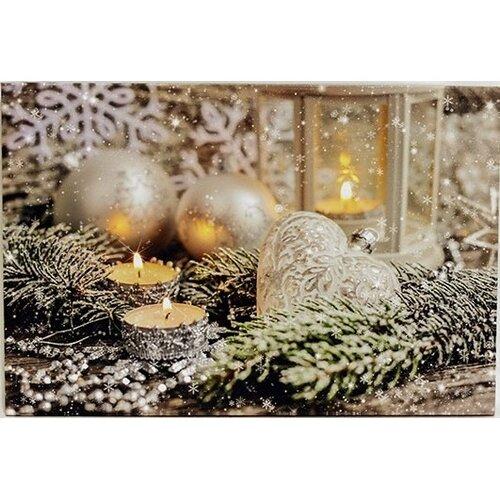 LED Obraz na plátně Vánoční zátiší, 60 x 40 cm