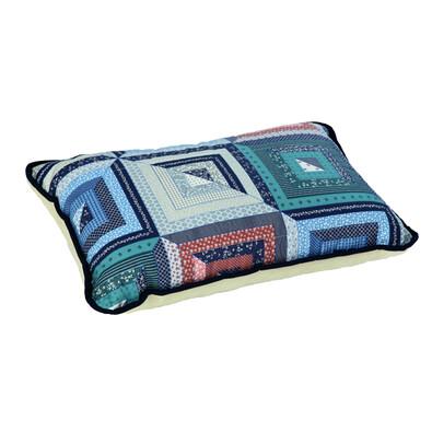 Vlnený vankúš Merino patchwork, 40 x 60 cm