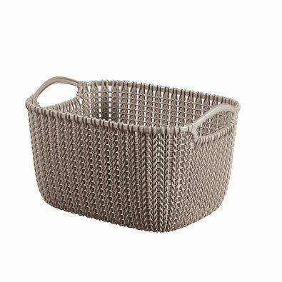 Cutie de depozitare Curver Knit 8 l, maro