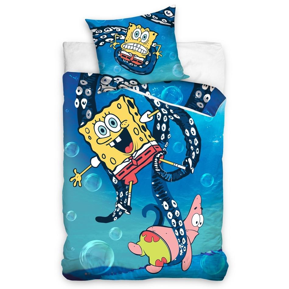 Carbotex Dětské povlečení SpongeBob - Chobotnice 140x200 70x80