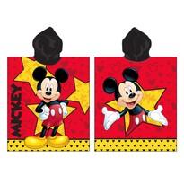 Poncho pentru copii Mickey star, 50 x 115 cm