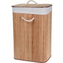 Bamboo szennyestartó kosár, natúr