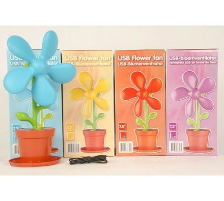 USB větrák květina