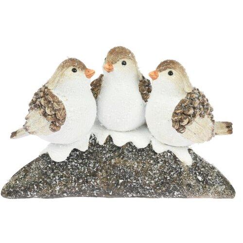 Dekorace Ptáčci Winterly, 19,5 x 9 x 12,7 cm