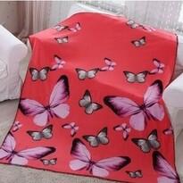 Domarex BUTTERFLY 3D takaró, rózsaszín, 150 x 200 cm