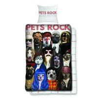 Lenjerie din bumbac Pets Rock, 140 x 200 cm, 70 x 90 cm