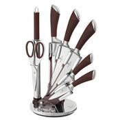 Berlinger Haus 8-częściowy zestaw noży w stojaku In finity Line, brązowy