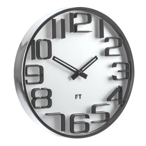 Future Time FT7010SI Numbers Designerski zegar ścienny, śr. 30 cm