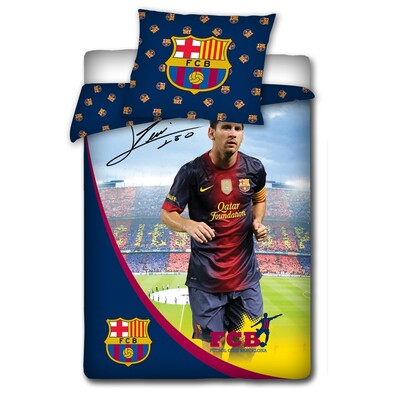 Pościel bawełniana Messi z autogramem , 140 x 200 cm,  70 x 80 cm