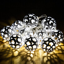 Bobbio fényfüzér, fehér, 10 LED-es