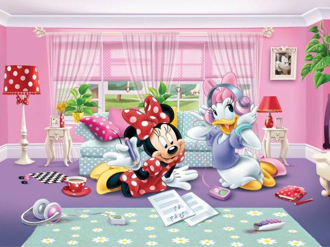 Fototapeta detská DISNEY Minnie and Daisy 360 x 270, Hornschuch