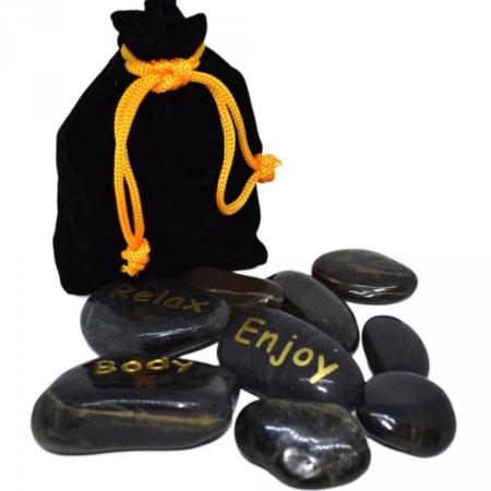 Horké kameny, černá