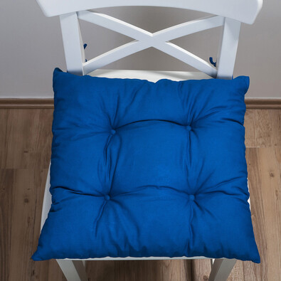 Sedák Uni, modrá, 38 x 38 cm, sada 2 ks