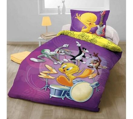 Dětské bavlněné povlečení Looney Tunes, 140 x 200 cm, 70 x 90 cm