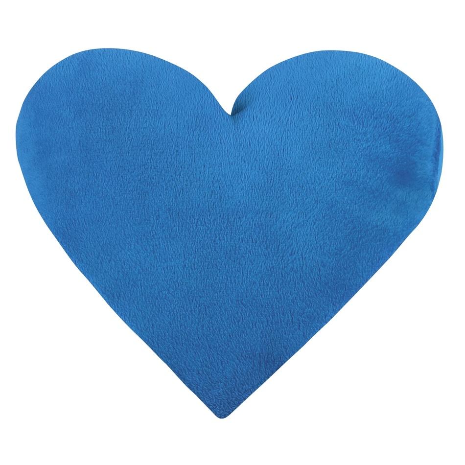 Bellatex Vankúšik Korall micro Srdce modrá, 42 x 48 cm