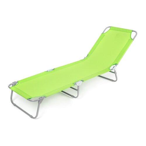 Happy Green Plážové skládací lehátko Sunbay zelená
