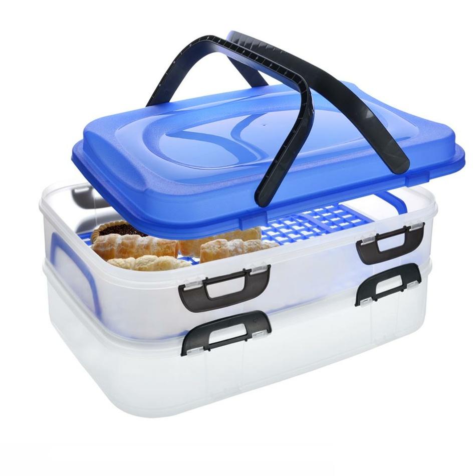 Caserolă portabilă de alimente Orion, 2 etaje imagine 2021 e4home.ro
