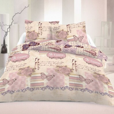 Lenjerie pat 2 pers. Romantic Luxury Collection, satin, 240 x 200 cm, 2 buc. 70 x 90 cm