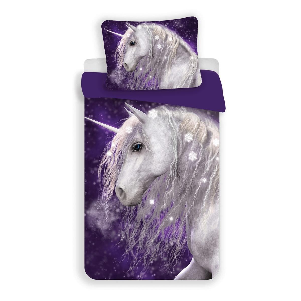 Jerry Fabrics Dětské bavlněné povlečení Unicorn, 140 x 200 cm, 70 x 90 cm