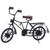 Bicyclette fém dekoráció, fekete, 36 x 11 x 20 cm