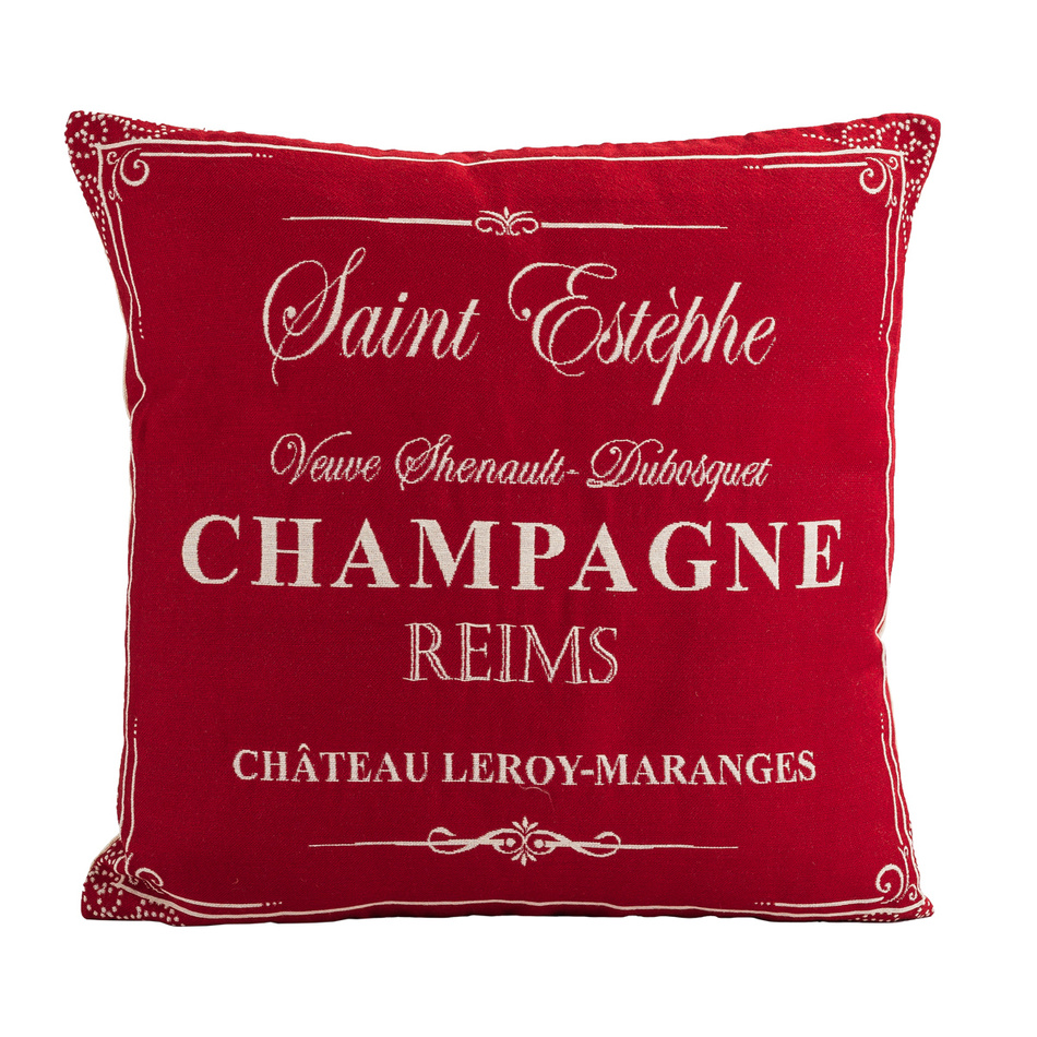 BO-MA Trading Obliečka na vankúšik Gobelín Champagne červený, 45 x 45 cm