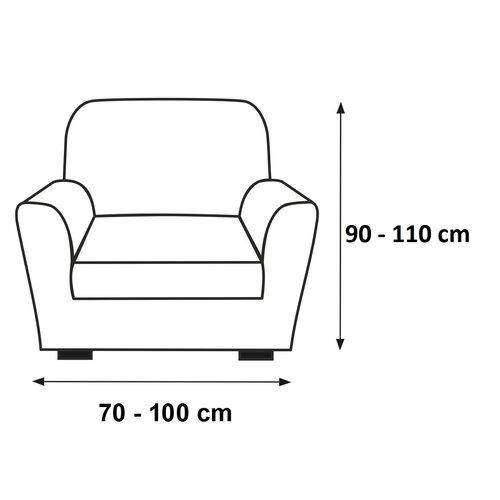 Multielastický poťah na kreslo Sada sivá, 70 - 100 cm