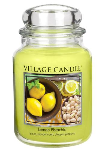 Village Candle Vonná svíčka ve skle, Citrón a pistácie, Lemon Pistachio, 645 g, 645 g