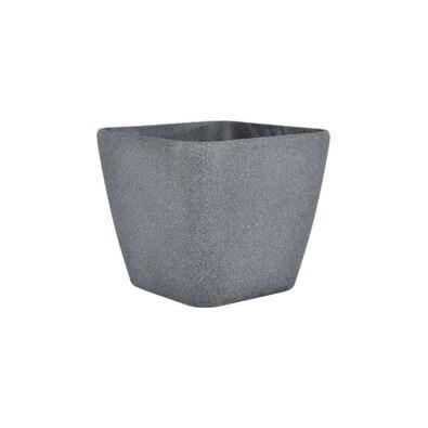 Markus Pedriksen Plastový květináč Vanda 35 x 35 x 33 cm tmavě šedá