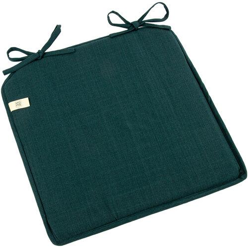 Sedák Káro tmavě zelená, 40 x 40 cm