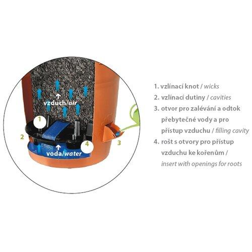 Plastia Samozavlažovací žardina Siesta béžová, pr. 35 cm