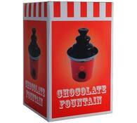 Pouťová čokoládová fontána, červená