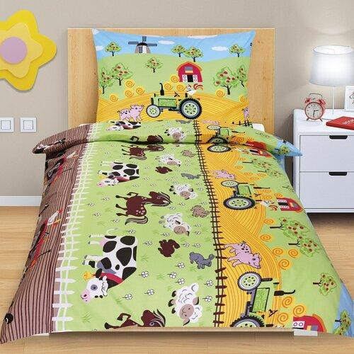 Dětské bavlněné povlečení Junior Farma, 140 x 200 cm, 70 x 90 cm