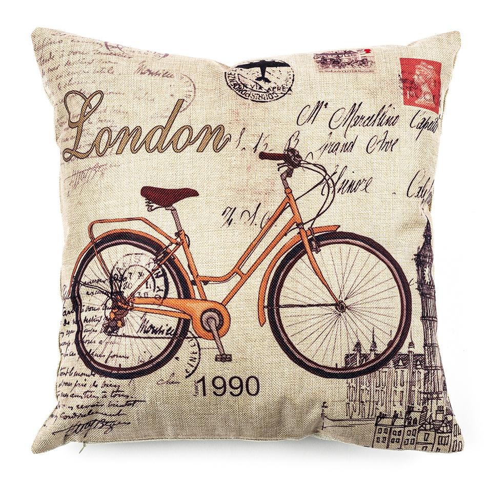 Jahu Obliečka na vankúšik Bicycle, 45 x 45 cm