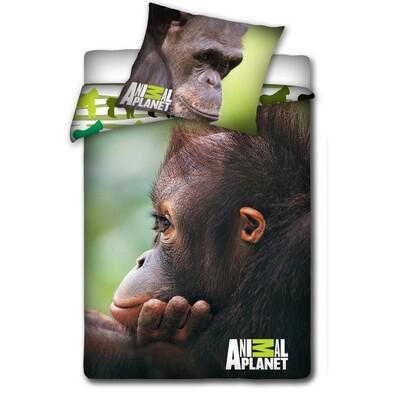 Bavlněné povlečení Animal Planet - Opice, 140 x 200 cm, 70 x 80 cm