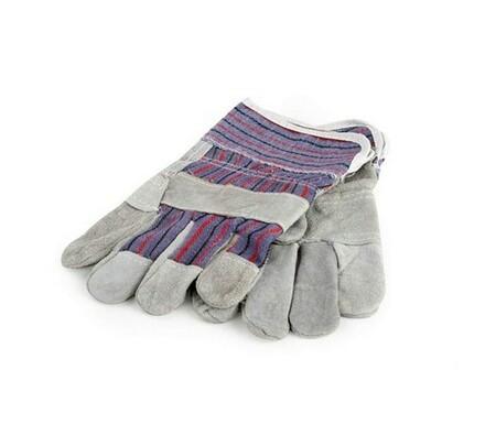 Pracovní rukavice kombinované kůže/textil, L