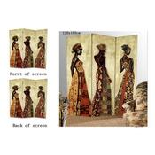 Paravan africká žena 3-dílný