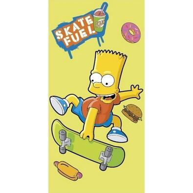 Osuška Bart Skate yellow, 75 x 150 cm