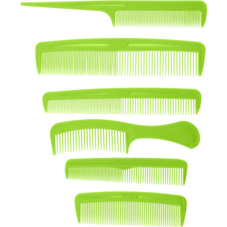 Sada hřebenů Combs zelená, 6 ks