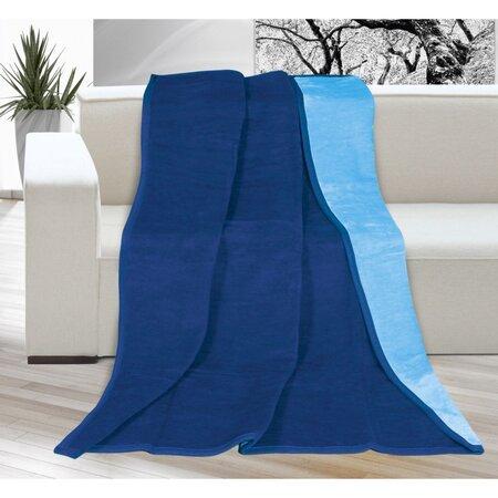 Pătură Kira, albastru/albastru deschis, 150 x 200 cm