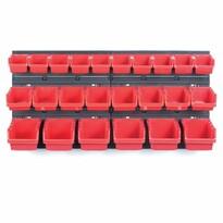 Függeszthető panel szerszámokhoz, 24 boxszal, Orderline, 80 x 16,5 x 40 cm