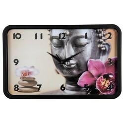 Nástenné hodiny Budha Flower, tichý chod,