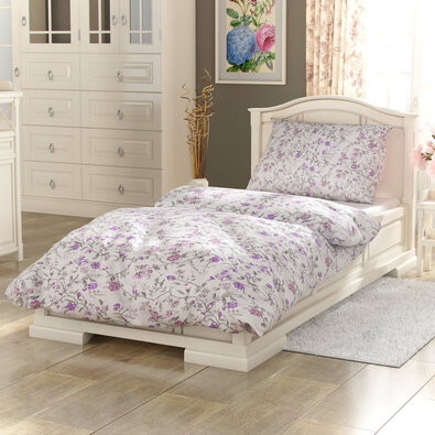 Kvalitex Provence Beáta pamut ágynemű lila, 240 x 200 cm, 2 db 70 x 90 cm