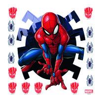 Samolepicí dekorace Spiderman, 30 x 30 cm