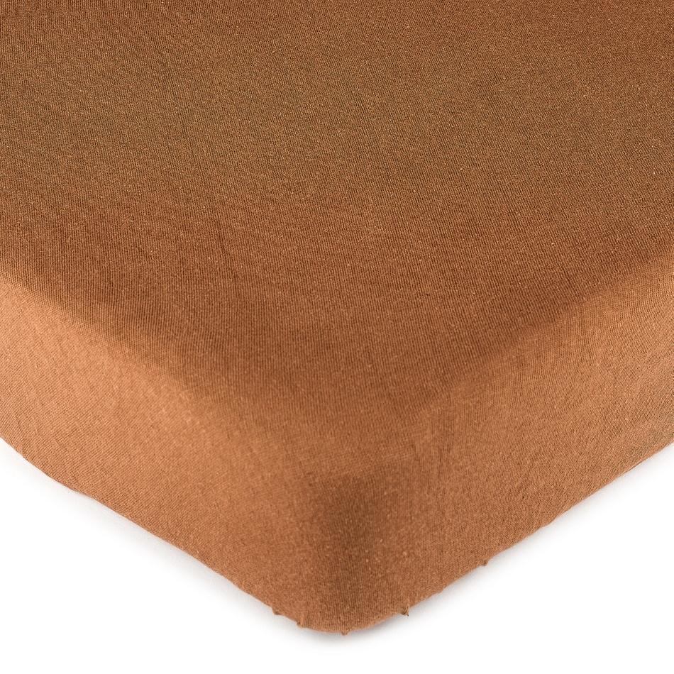 4Home jersey prostěradlo hnědá, 140 x 200 cm