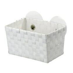 Wenko košík s přísavkami bílábílá,