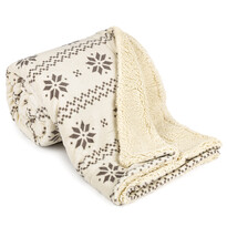 4Home Beránková deka Nordic béžová, 150 x 200 cm