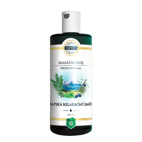 Topvet Masážny olej Alpská relaxačná smes 200 ml
