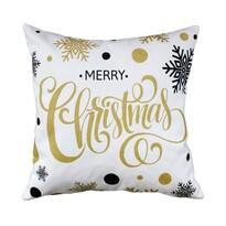 Domarex Vánoční polštářek Veselé Vánoce bílá, 45 x 45 cm